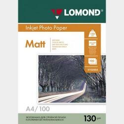 A4 130грамм 100листов матовая 2-сторон.(0102004) LOMOND