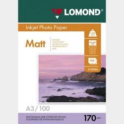 Фотобумага A3 170грамм 100листов матовая 2-сторон.(0102012) LOMOND